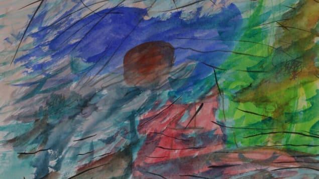 Le dessin Tempête à l'île verte, de Chloé Sainte-Marie