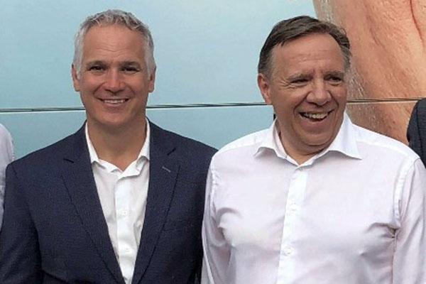 Éric Lefebvre et François Legault