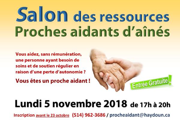 Salon des Ressources - Proches aidants d'aînés