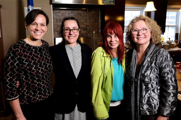 Isabelle Charest, Christelle Bogosta, Chloé Sainte-Marie et Marguerite Blais