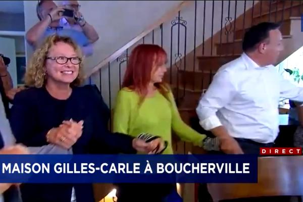 Marguerite Blais, Chloé Sainte-Marie et François Legault